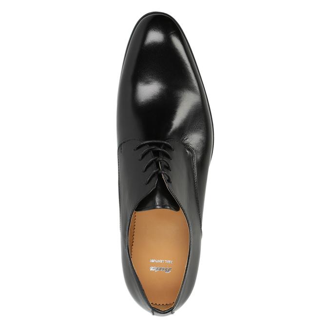Men's leather shoes bata, black , 824-6648 - 19