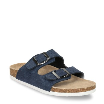 Children's blue slippers de-fonseca, blue , 373-9600 - 13