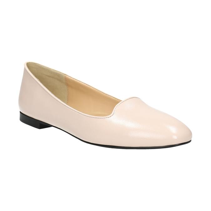 Ladies' leather ballerinas bata, pink , 528-5630 - 13