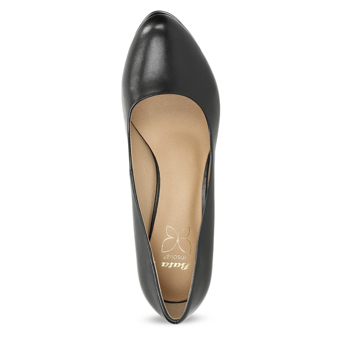 Black leather pumps insolia, black , 724-6104 - 17