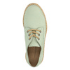 Leather shoes with a transparent sole weinbrenner, green, 526-7608 - 19