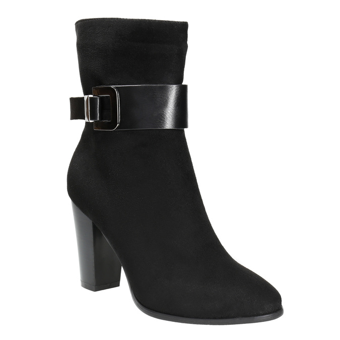 Ladies' ankle boots with a buckle bata, black , 699-6630 - 13