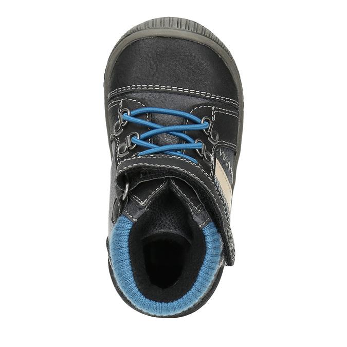 Children's ankle shoes bubblegummer, black , 111-6610 - 19