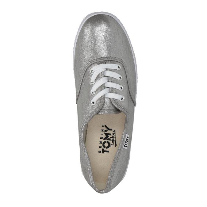 Ladies' silver sneakers tomy-takkies, silver , 519-1690 - 19