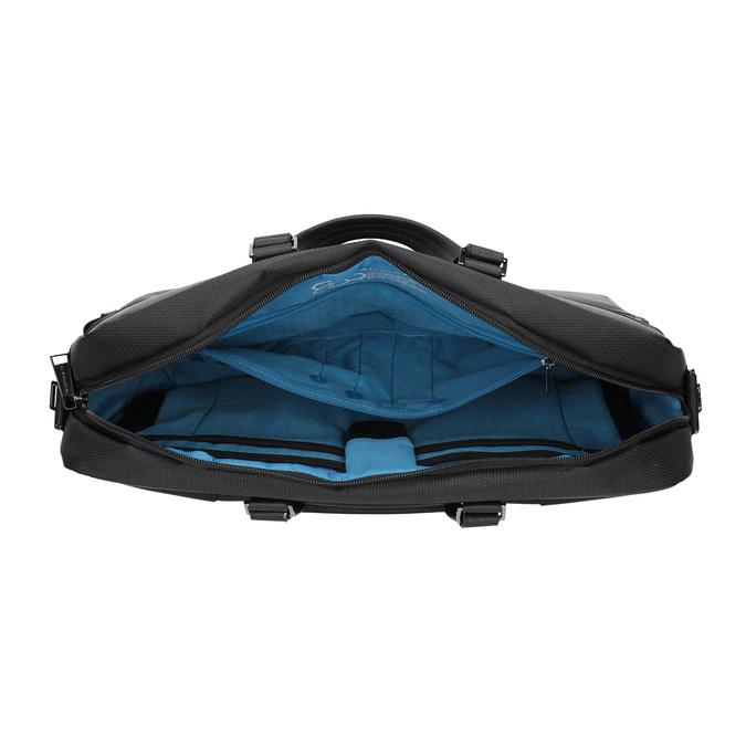 Black laptop bag roncato, black , 969-6640 - 15