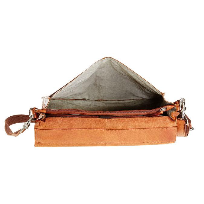 Leather briefcase bata, brown , 964-3138 - 15