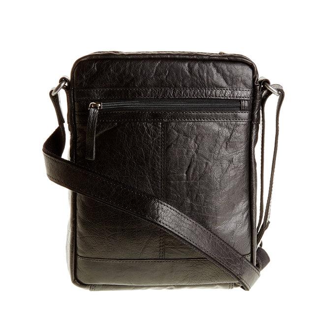 Leather Crossbody bag bata, black , 964-6180 - 26