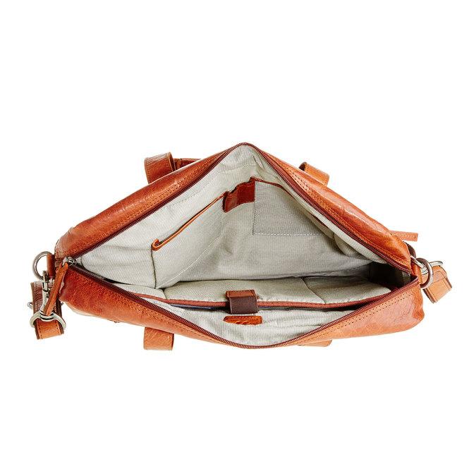Leather bag bata, brown , 964-3153 - 15