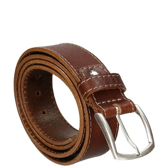 Men's belt with quilting bata, brown , 954-4147 - 13