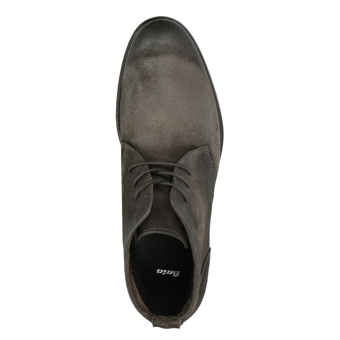 Brushed leather ankle boots bata, gray , 846-6611 - 19