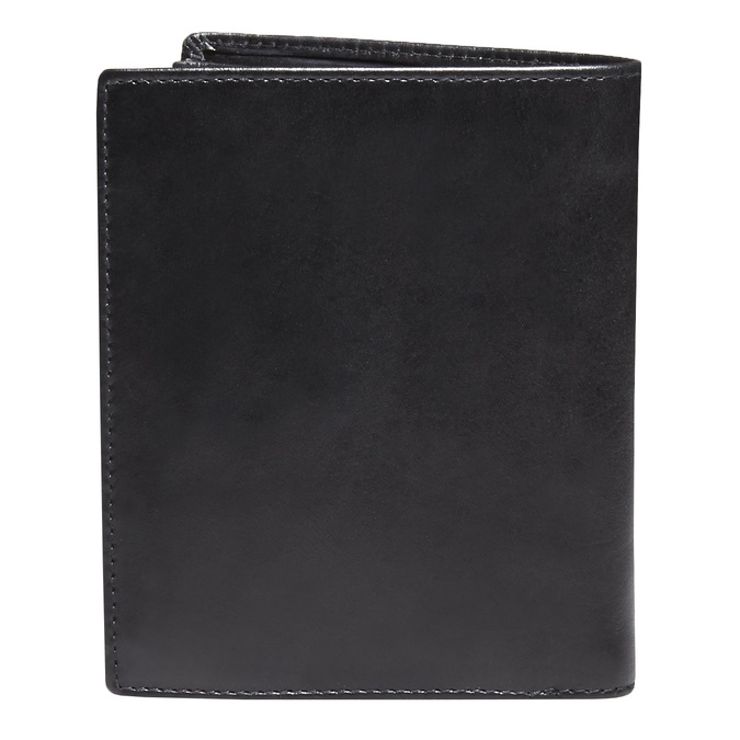Men's leather wallet, black , 944-6121 - 26