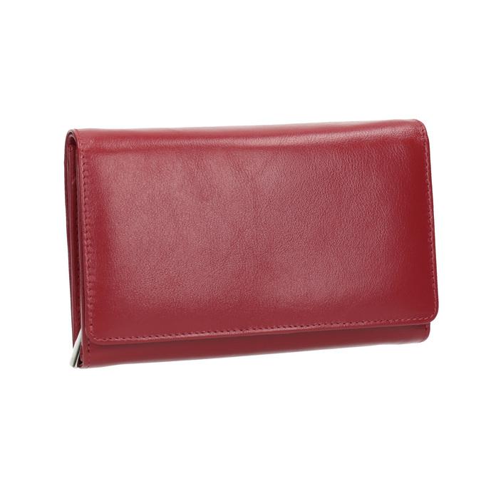 Ladies' leather  purse bata, red , 944-5168 - 13