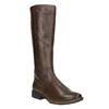 H-width leather Cossacks bata, brown , 596-4611 - 13