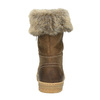 Leather winter shoes with fur weinbrenner, brown , 596-4633 - 17