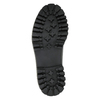 Laced leather shoes on a contrasting sole weinbrenner, black , 596-9635 - 26