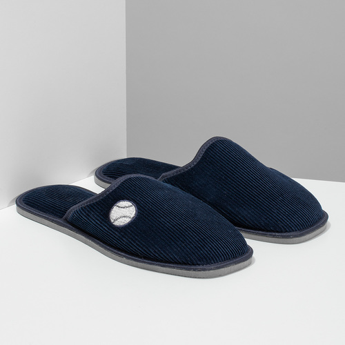Men's slippers bata, blue , 879-9609 - 26