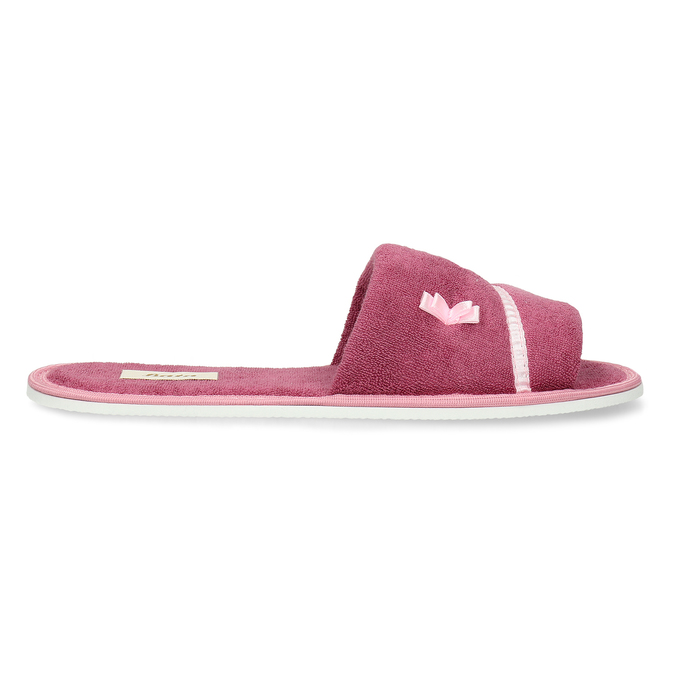 Ladies' slippers with bow, pink , 579-5609 - 19