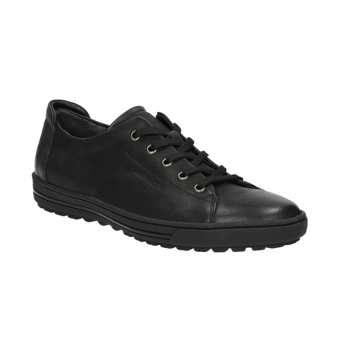 Ladies' leather sneakers bata, black , 524-6349 - 13