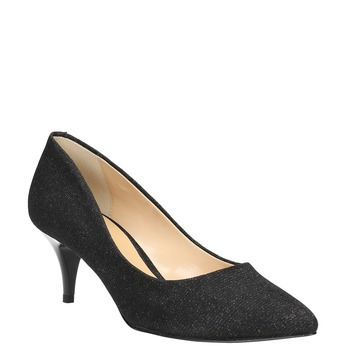 Elegant low-heeled pumps bata, black , 629-6631 - 13