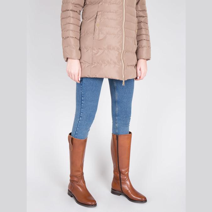 Ladies´ leather Cossacks bata, brown , 596-4608 - 18