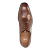 Brown leather Oxford shoes bata, brown , 826-3810 - 19