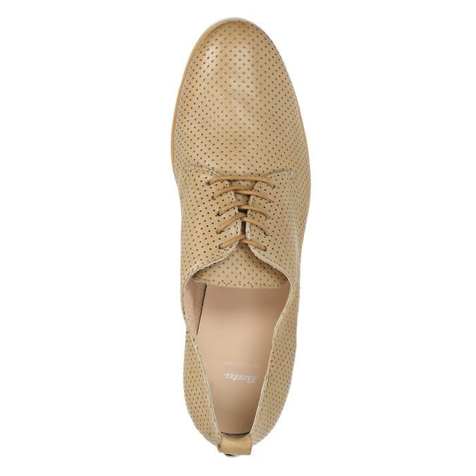 Ladies' casual leather shoes bata, beige , 526-3626 - 19