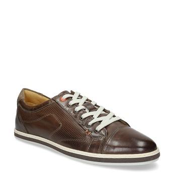 Men's leather sneakers bata, brown , 846-4617 - 13