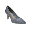 Leather court shoes with perforations pillow-padding, blue , 626-9636 - 13