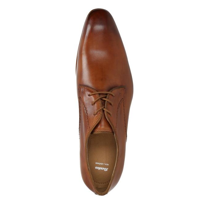 Men's leather shoes bata, brown , 826-3836 - 19