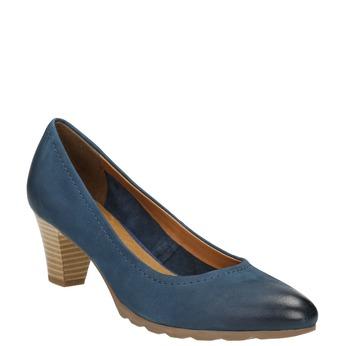 Ladies´ leather pumps bata, blue , 626-9639 - 13