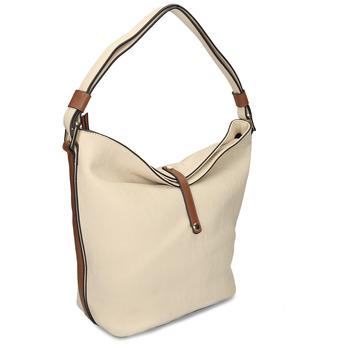 Hobo-style handbag bata, beige , 961-8705 - 13