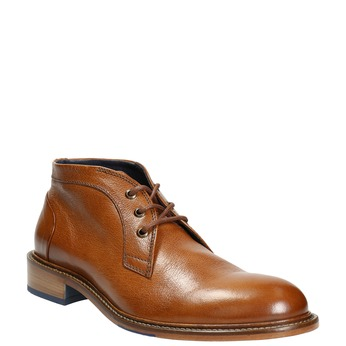 100% leather ankle boots bata, brown , 826-3909 - 13
