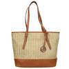 Shopper handbag with braided pattern gabor-bags, beige , 961-8073 - 26