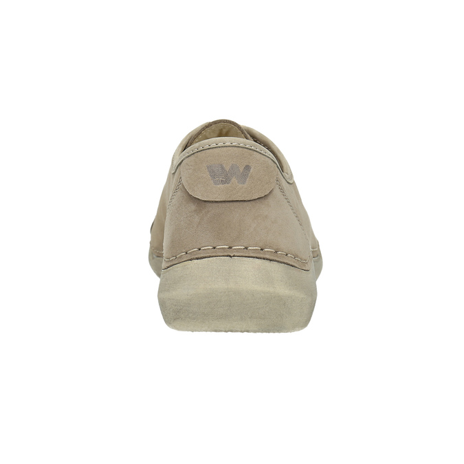Casual leather low shoes weinbrenner, beige , 546-2603 - 17