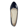 Ladies' patent leather ballerinas bata, blue , 521-2602 - 19