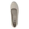 Leather pumps width H bata, gray , 623-2602 - 19