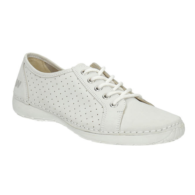 Ladies' casual leather shoes weinbrenner, white , 546-1602 - 13