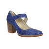 Leather pumps with strap across instep bata, blue , 626-9641 - 13