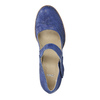 Leather pumps with strap across instep bata, blue , 626-9641 - 19