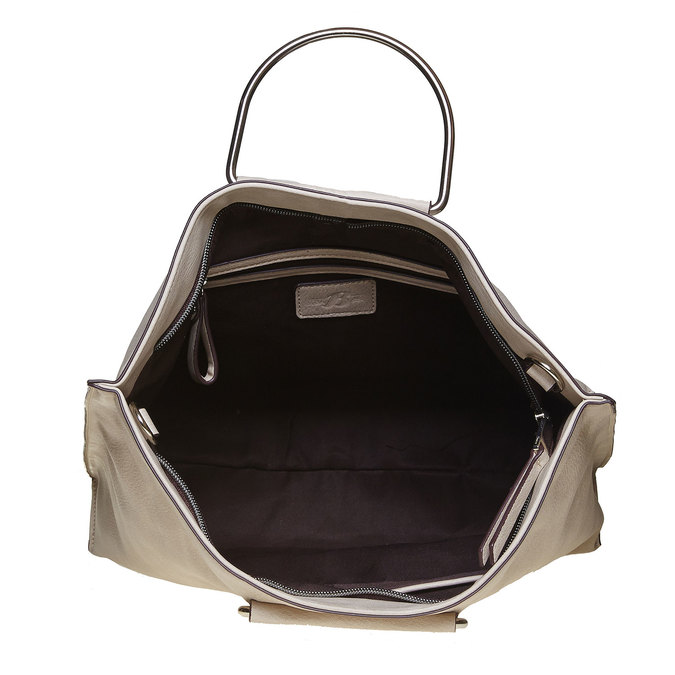Ladies' cream handbag bata, gray , 961-8327 - 15