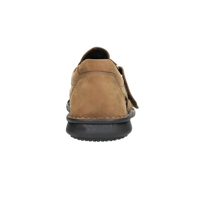 Men's brown leather sandals bata, brown , 864-4600 - 17
