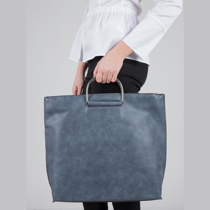 Ladies' blue handbag bata, blue , 961-9327 - 17