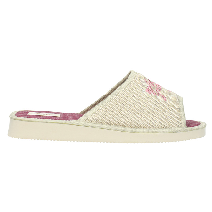 Ladies' slippers bata, beige , 579-8618 - 15