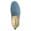 Blue leather slip-ons weinbrenner, blue , 513-9263 - 19