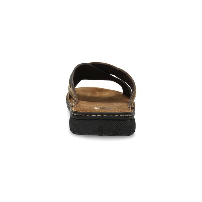 Men's leather slip-ons bata, brown , 866-4612 - 15
