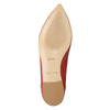 Red leather ballet pumps bata, red , 524-5604 - 19