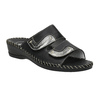 Leather slippers, black , 674-6600 - 13