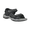 Men's leather sandals weinbrenner, black , 866-6630 - 13
