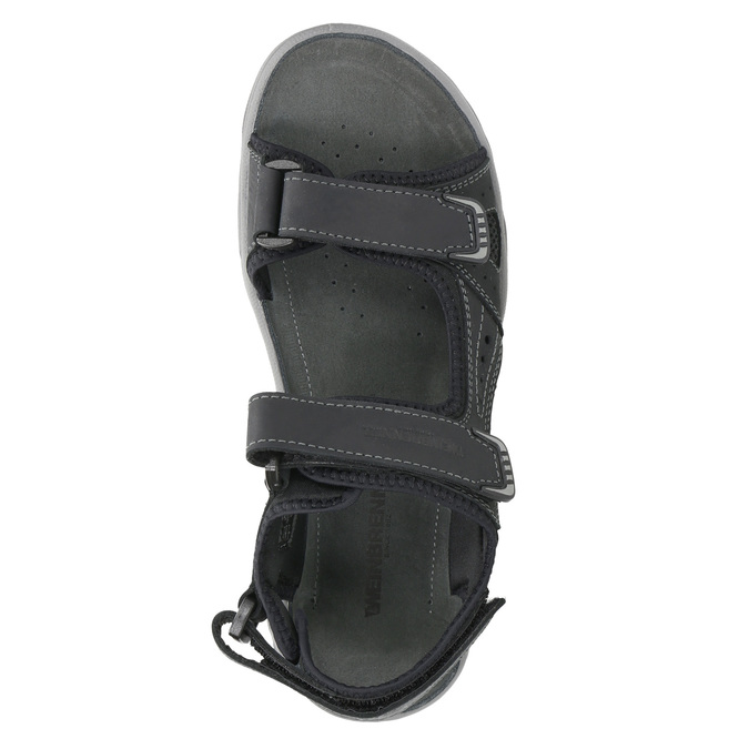 Men's leather sandals weinbrenner, black , 866-6630 - 19