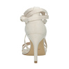 Heeled lace-up sandals insolia, white , 769-1613 - 17